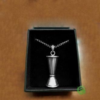 Abbigliamento per Barman ,Ciondolo Jigger in argento 925