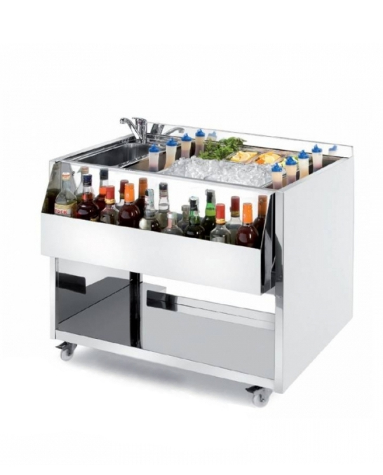 Moduli Bar e Bottigliere ,Cocktail Station M100 con lavabo