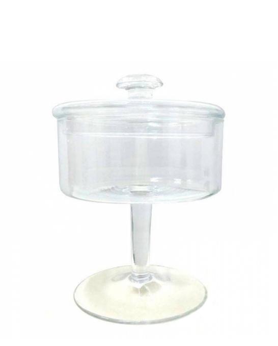 Decorazione Guarnizione ,Contenitore in vetro con coperchio