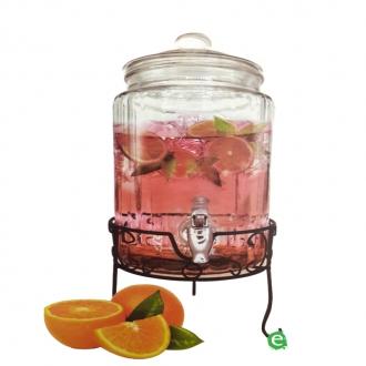 Botti e Alambicchi ,Drink dispenser in vetro con supporto 5.8 lt