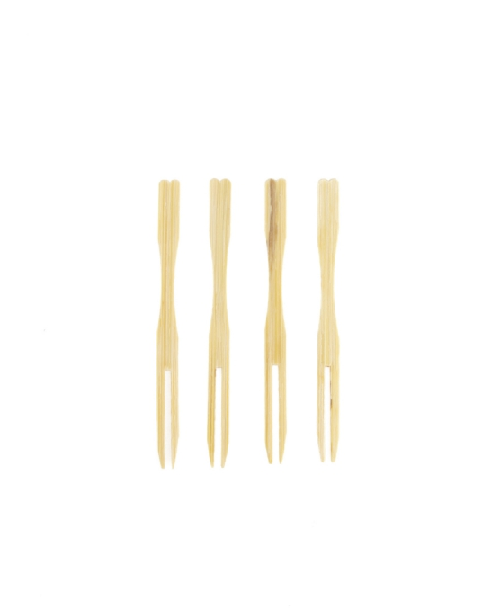 Decorazione Guarnizione ,Forchettina in bamboo 9 cm 100pz