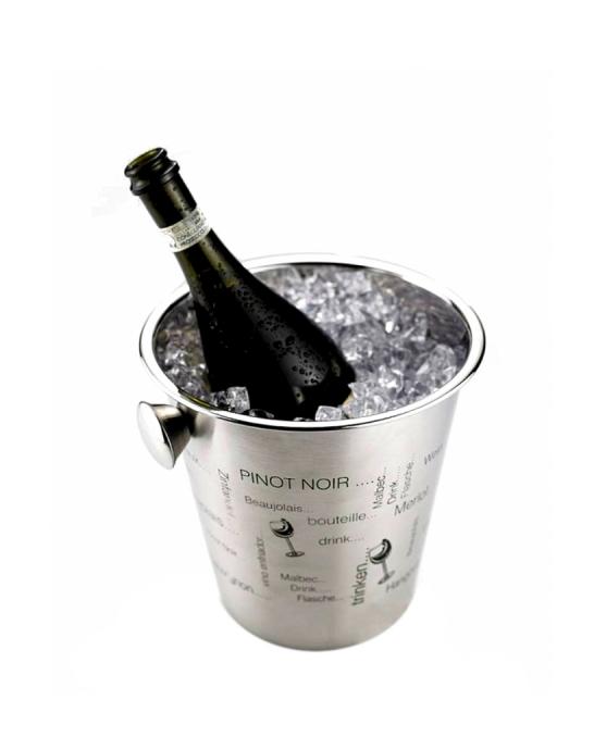 Accessori Vini & Champagne ,Glacette in acciaio inox con scritte