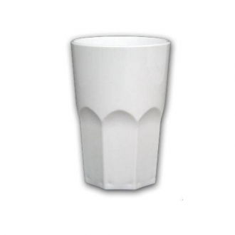Bicchieri in Plastica ,Granity 40 cl bianco 10 pezzi