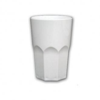 Bicchieri in Plastica ,Granity 40 cl bianco 10pz