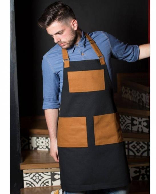 Abbigliamento per Barman ,Grembiule Folk in cotone
