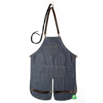 Abbigliamento per Barman ,Grembiule Pukka Americana in denim blu