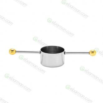 Jiggers ,Jigger Mr.Slim™ MR-419 in acciaio inox dettagli in oro 20 ml