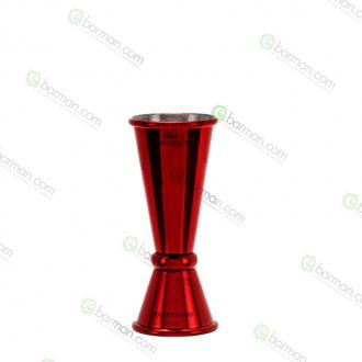 Jiggers ,Jigger style Japanese 15/30 ml rosso rubino