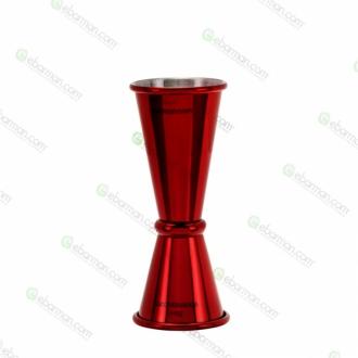 Jiggers ,Jigger style japanese 30/45 ml rosso rubino