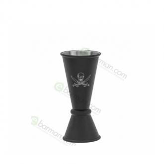 Jiggers ,Jigger Teschio del Pirata style Japanese 15/30 ml nero opaco