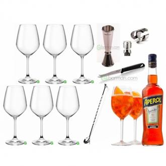 Kit e valigette Barman ,Kit Barman Aperol Spritz Set 10pz