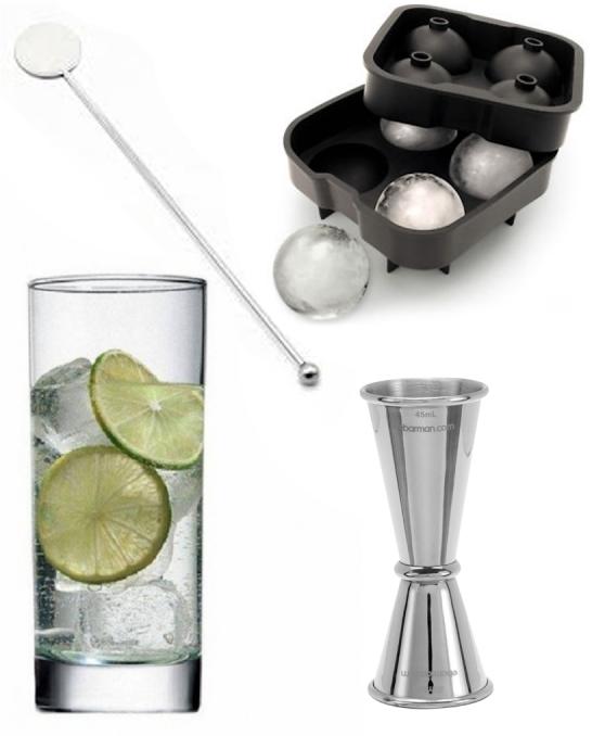Kit e valigette Barman ,Kit Barman Gin Tonic set 14pz