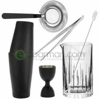 Kit e valigette Barman ,Kit Barman Nero opaco Set 6pz