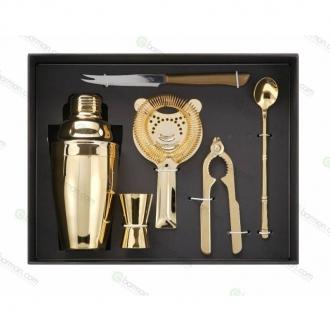 Kit e valigette Barman ,Kit Barman Oro Confezione Regalo Set 6pz