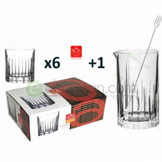 Kit e valigette Barman ,Kit Barman Servizio RCR Linea Crystal + Bar Spoon Set 8pz
