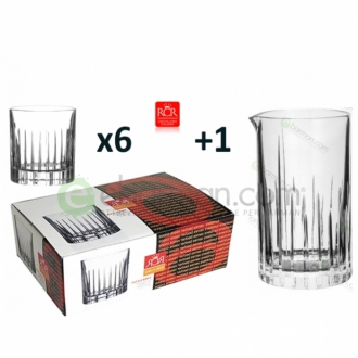 Kit e valigette Barman ,Kit Barman Servizio RCR Linea Crystal Set 7pz