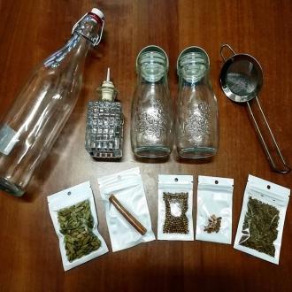 ebarman Spezie Store ,Kit per Bitter Arancia pronunciato al cardamomo Homemade con accessori