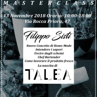 Master e Seminari ,La Nascita di Talea con Filippo Sisti 13 Novembre 2018