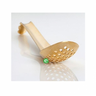 Accessori per Barman ,Lotus Spoon forato dorato 16,5 cm