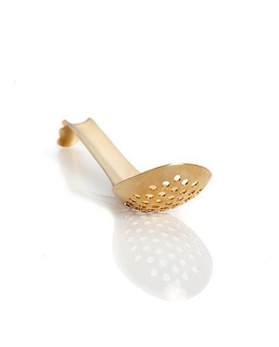 Accessori per Barman ,Lotus Spoon forato dorato 16,5 cm