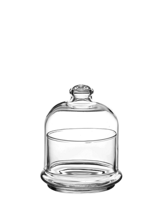 Decorazione Guarnizione ,Mini coppetta con cupola in vetro 22 cl