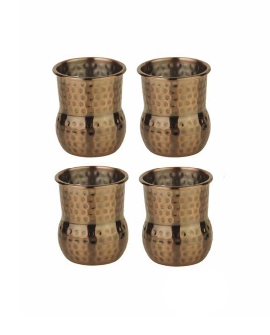 Mug,Mini mug per shot color rame antico 6 cl 4pz