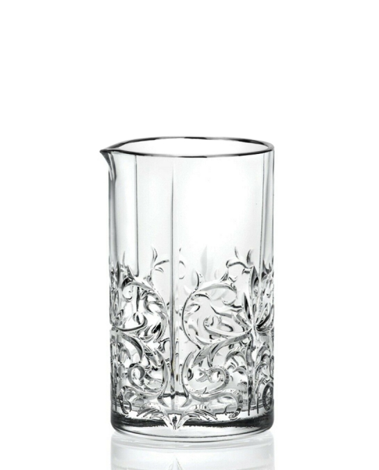 Mixing Glasses,Mixing Glass RCR Tattoo Seamless Bordo Platinum 650 ml