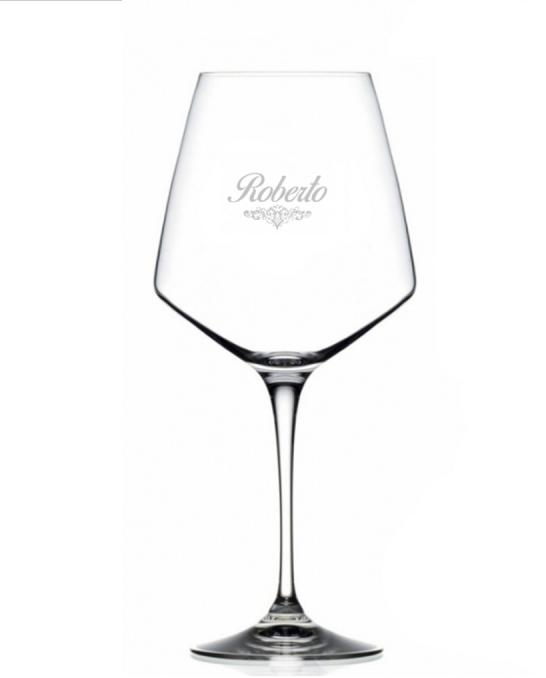 Bicchieri Personalizzati Singoli ,Modello Art Nouveau Calice Vino rosso Cristallo RCR 79 cl 1 pezzo