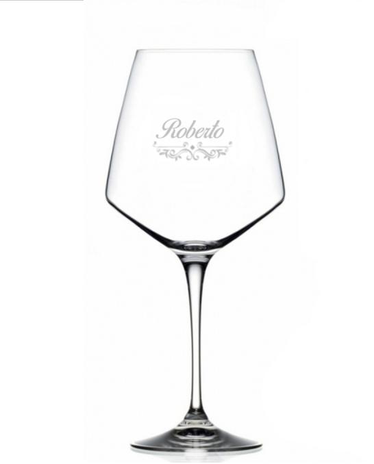 Bicchieri Personalizzati Singoli ,Modello Vittoriano Calice Vino rosso Cristallo RCR 79 cl 1 pezzo