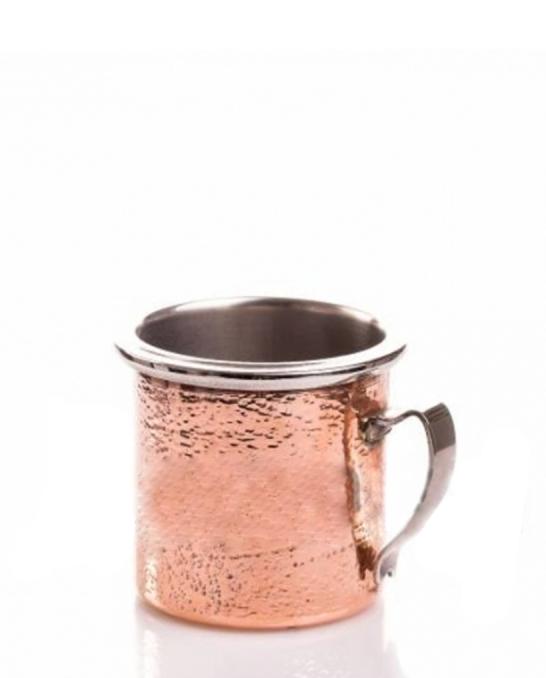 Mug,Moscow mule in acciaio e rame martellato 30 cl