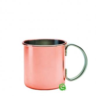 Mug,Moskow mule mug rame con manico acciaio 50 cl