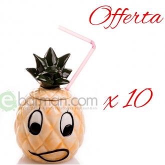Mug ,Offerta! Tiki mug Happy Ananas 50 cl x 10 pz