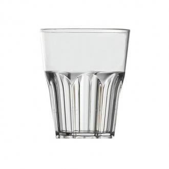 Bicchieri in Plastica ,Rock basso 29 cl trasparente 8 pezzi