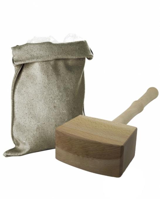 Accessori Ghiaccio ,Set martello e borsa per ghiaccio