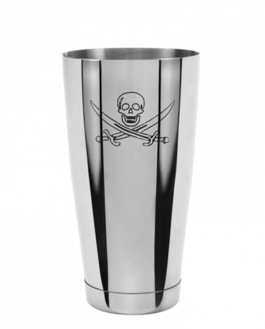Ultimi in Stock ,Shaker Boston Bilanciato Premium Mixing Tin 900 ml Teschio del Pirata