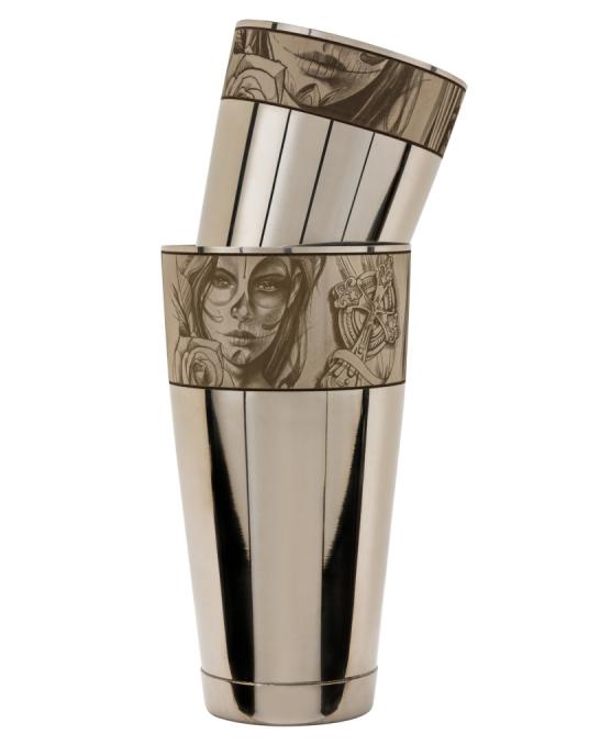 Maggiore Produzioni ,Shaker Boston Edizione Chicano Figurale 900 e 600 ml