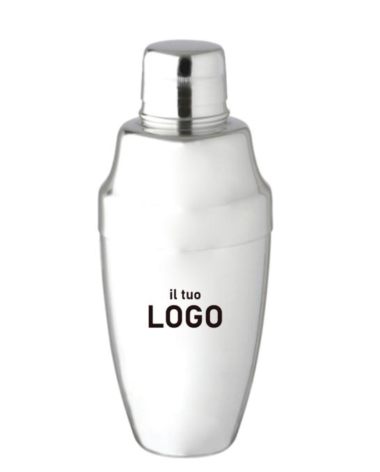 Attrezzatura Barman Personalizzata ,Shaker Cobbler personalizzato con logo 500 ml