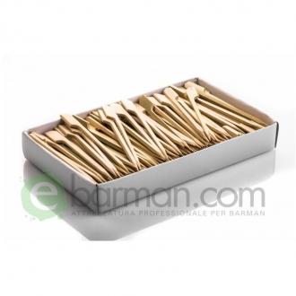 Decorazione Guarnizione ,Stecchi bamboo con palettina 12 cm conf 100 pz