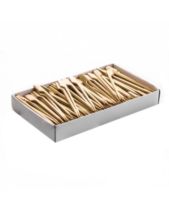 Cannucce e Tovaglioli ,Stecchi bamboo con palettina 12 cm conf 100 pz