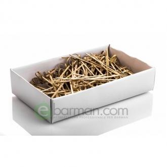 Decorazione Guarnizione ,Stick bamboo con nodo 12 cm conf.100 pz