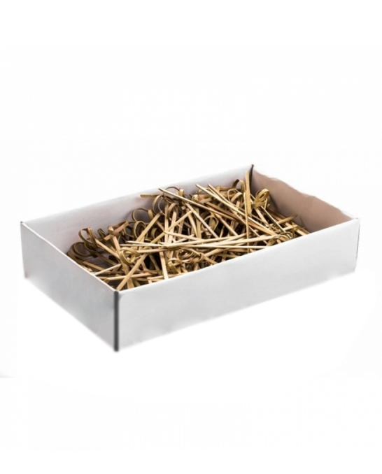 Decorazione Guarnizione ,Stick bamboo con nodo 9 cm conf.100 pz