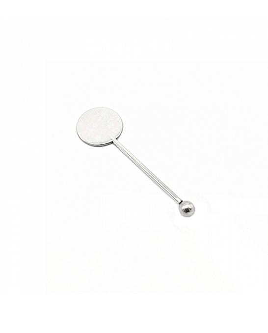 Decorazione Guarnizione ,Stirrer Round in acciaio 10 cm 4pz