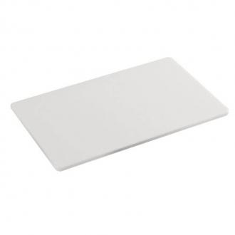 Decorazione Guarnizione ,Tagliere 35x25 cm in polietilene colore bianco