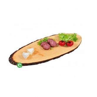 Accessori per Servizio Bar ,Tagliere in corteccia di legno ovale 45 cm