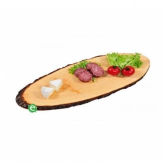 Accessori per Servizio Bar ,Tagliere in corteccia di legno ovale 50 cm