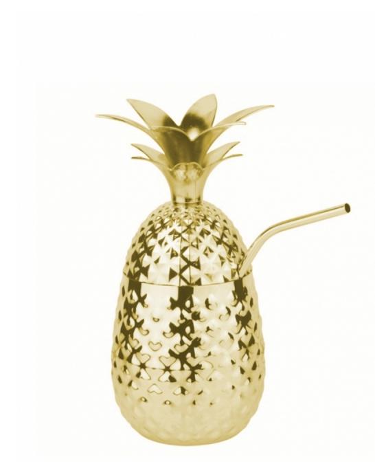 Mug,Tazza Ananas in Acciaio Pineapple Mug oro 50 cl