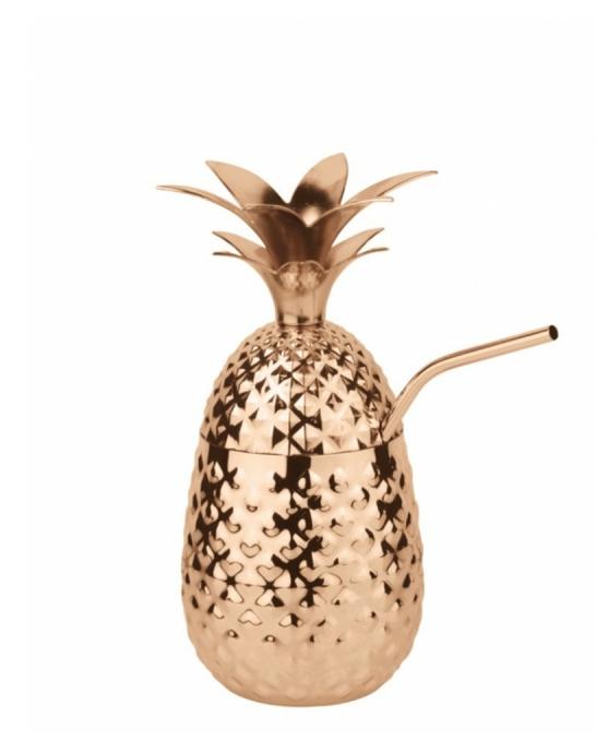 Mug,Tazza Ananas in Acciaio Pineapple Mug rame 50 cl