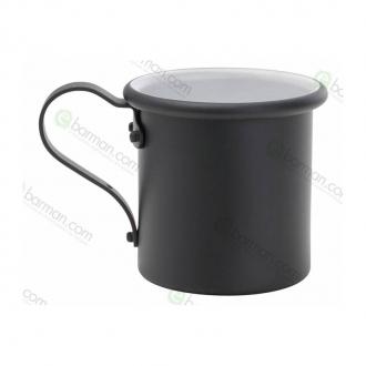 Mug ,Tazza in alluminio 42.5 cl Nero Opaco
