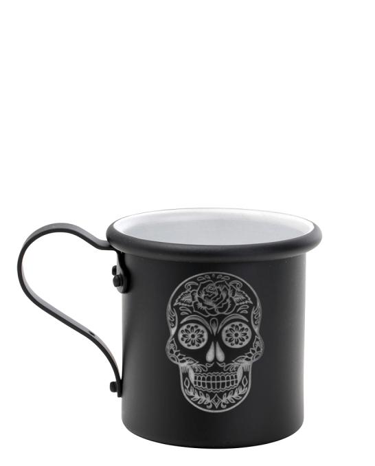 Mug,Tazza in alluminio 42.5 cl Nero opaco Mexican Skull