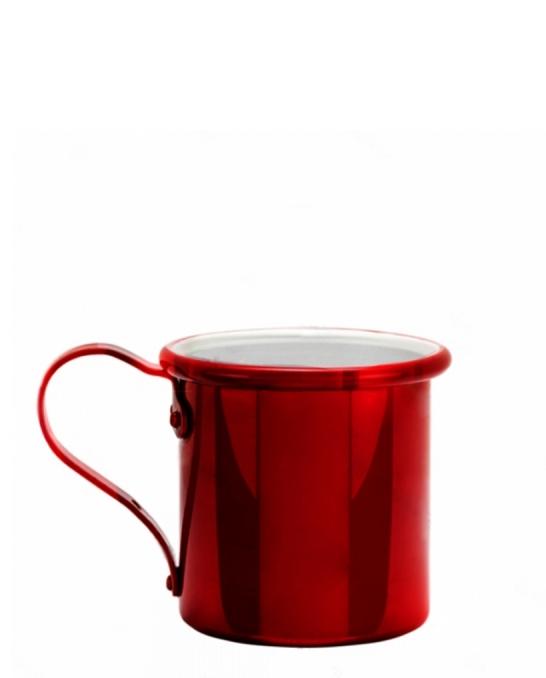 Mug,Tazza in alluminio 42.5 cl Rosso Rubino